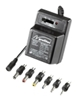 ROLINE Universal Netzteil  Eingangsspannung: 230V/50Hz, Ausgangs- spannung: 3/4.5/6/7.5/9/12V, 1000mA, inkl. 6 Universaladapter