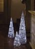 Hellum LED Kristall-Pyramide weiss