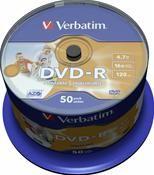 Verbatim DVD-R 4.7GB 16X Inkjet white 50er Spindel