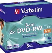 Verbatim DVD-RW 1.4GB 8cm 2X     ,