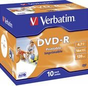 Verbatim DVD-R 4.7GB 16X Inkjet weiss