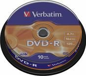 Verbatim DVD-R 4.7GB 16X 10er Spindel