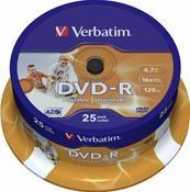 Verbatim DVD-R 4.7GB 16X Inkjet weiß 25er Spindel