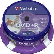 Verbatim DVD+R 4.7GB 16X 25er Spindel