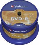 Verbatim DVD-R 4.7GB 16X  50er Spindel