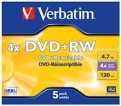Verbatim DVD+RW 4.7GB 4X 5er Pack