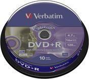 Verbatim DVD+R 4.7GB 16X Lightscribe 10er Spindel