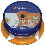 Verbatim DVD-R 4.7GB 8X Archival Grade 25er Spindel