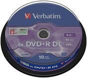 Verbatim DVD+R DL 8.5GB 8X 10er Spindel