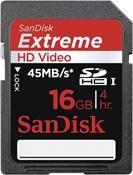 SanDisk Extreme SDHC UHS-I Karte SDSDX-016G-X46 16GB