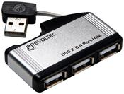 Revoltec USB2.0-Hub 4-Port silber