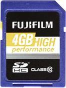Fujifilm High Performance SDHC 4GB