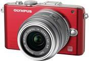Olympus PEN E-PL3 Kit Double Zoom Kit rot/silber