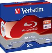 Verbatim BD-RE 2X 50GB 5er Pack