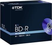 TDK BD-R 25GB 6X     ,