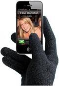 Dr. Bott Mujjo Touchscreen Gloves für iPhone 4/4S Gr. M/L schwarz