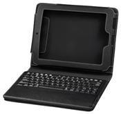 Hama Cross Grain Portfolio mit Bluetooth-Tastatur schwarz