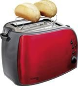 Bomann TA1962CB rosso Toaster rot/schwarz
