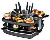 Gastroback 42559 Raclette-Fondue-Set schwarz