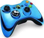 Microsoft Xbox 360 Wireless Controller Chrome Blau Limited Edition (X360)