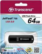 Transcend JetFlash 700 USB3.0 64GB, schwarz