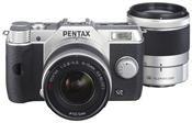 Pentax Q10 5-15mm + 15-45mm Kit silber