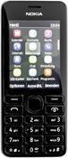 Nokia 206 Dual-SIM Symbian, Barren Handy  in schwarz  mit 64 MB Speicher