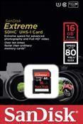 SanDisk Extreme SDHC UHS-I Karte SDSDXS-016G-X46 16GB