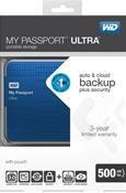 WD MyPassport Ultra 500GB blau
