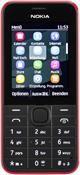Nokia 207, Barren Handy  in rot  mit 256 MB Speicher