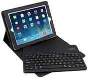 COMMANDER BlueTooth Leather Case schwarz für Apple iPad Mini