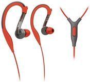 Philips SHQ 3205, In-Ear-Bügel Kopfhörer, grau / rot