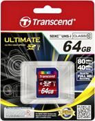 Transcend SDXC Ultimate UHS-I Class 10 64GB