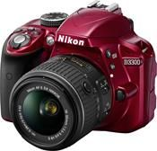 Nikon D3300 Kit AF-S DX 18-55 VR II rot