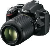 Nikon D3200 Kit AF-S DX 18-55 VR II + 55-200 VR schwarz