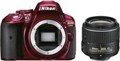 Nikon D5300 Kit AF-S DX 18-55 VR II rot