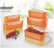 maxxcuisine Klick-it Frischhaltedosen Pünktchendekor 10-teilig orange