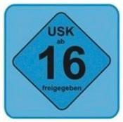 USK Sticker: USK 16 (VPE: 25 St.)
