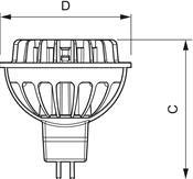 Philips Master LEDspotLV 7W GU5.3 MR16 36D weiß