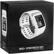 TomTom Nike + Sport GPS Watch inkl. Schuhsensor, weiss / silber