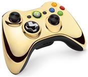 Microsoft Xbox 360 Wireless Controller Chrome Gold Limited Edition (X360)