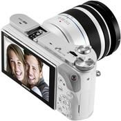 Samsung NX300M Kit weiß + 18-55 OIS i-Function + SEF-8A