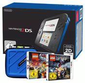 Nintendo 2DS (schwarzß+blau) inkl. LEGO Movie+LEGO Hobbit+Tasche 2DS (3DS) DE-Version