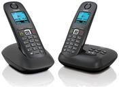Gigaset A540 A Duo mit Anrufbeantworter anthrazit/schwarz