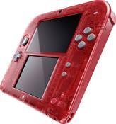 Nintendo 2DS Transparent Rot inkl. Pokemon Omega Rubin (3DS) DE-Version