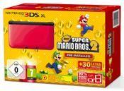 Nintendo 3DS XL rot inkl. New Super Mario Bros. 2 (3DS) DE-Version