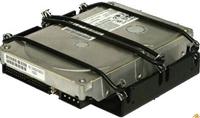 Sharkoon HDD Vibe Fixer 3.5' HDD-Einbau-Kit  Festplatte wird auf Gummibändern montiert, dadurch werden die Vibrationen die sonst an das Gehäuse abgegeben werden gedämmt