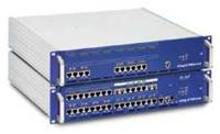 elmeg ICT880-Rack  max. 16 digitalen Amtskanälen, max. 52 digitalen Internkanälen, max. 44 analogen Endgeräten, max. 4 TFE, Modular erweiterbar (ISDN- oder analoge Anschlüsse)