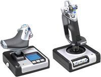 Saitek X52 Flight Control System       Schubregler, 8-Wege Coolie Hat