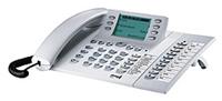 elmeg CS400xt grau  S0-Systemtelefon,Telefonbuch (250), 15 frei programmierbare Tasten, 2 x T400 nachrüstbar, Headsetanschluss, kein Modulslot